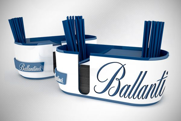 DESIGN BAR CADDY FOR BALLENTINE'S WHISKY