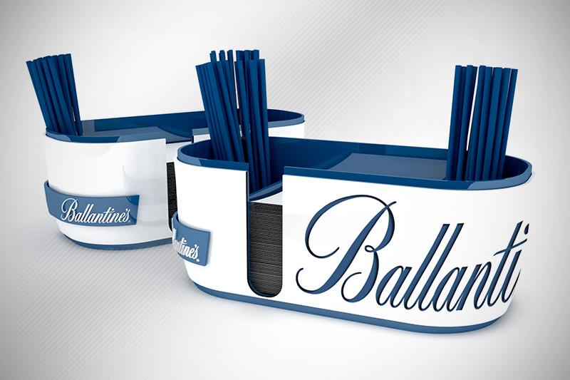 DESIGN BAR CADDY FOR BALLENTINE'S WHISKY