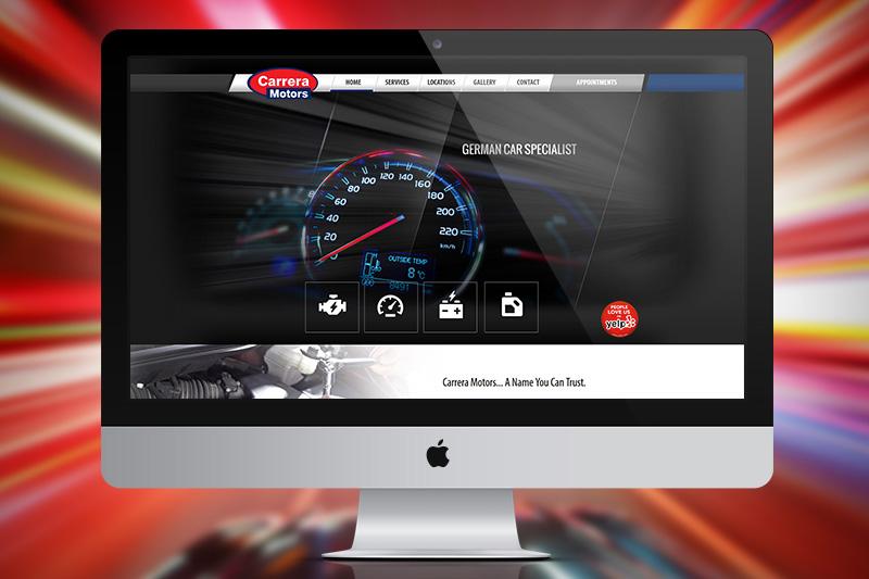 Carrera Motors – Website Design