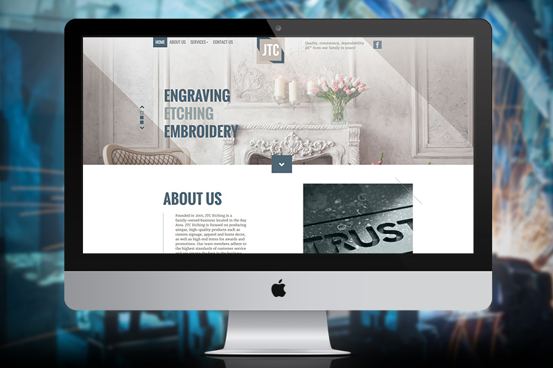 JTC Etching – Website Design