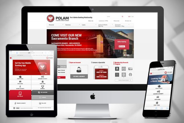 Polam Federal Credit Union  – Website Design